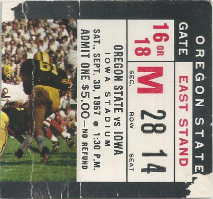 1967 Oregon St Ticket