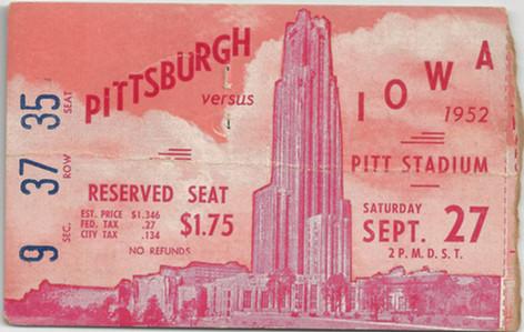 1952 @ Pitt Ticket