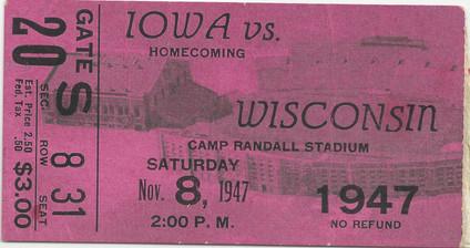 1947 @ Wisconsin Ticket