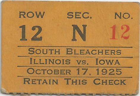 1925 Illinois Ticket
