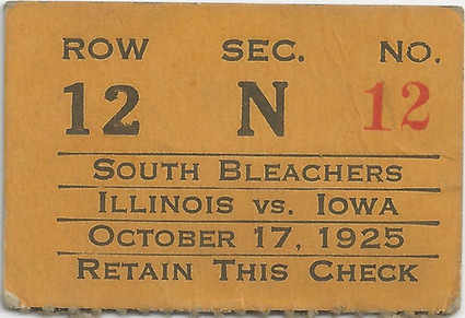 1925 Illinois Ticket