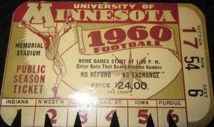 1960 @ Minnesota Ticket