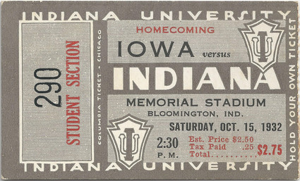1932 @ Indiana Ticket