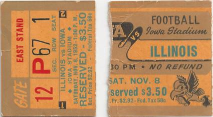 1952 Illinois Ticket