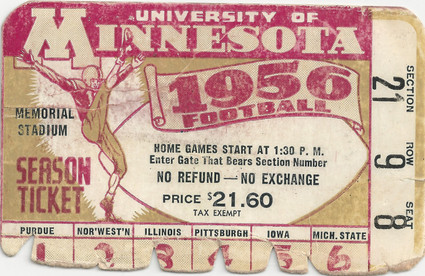 1956 @ Minnesota Ticket