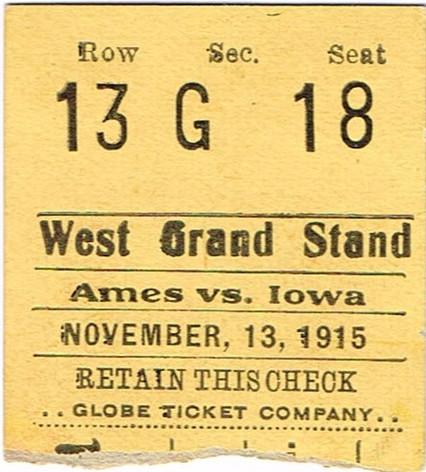 1915 Ames Ticket