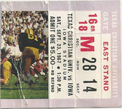 1967 TCU Ticket