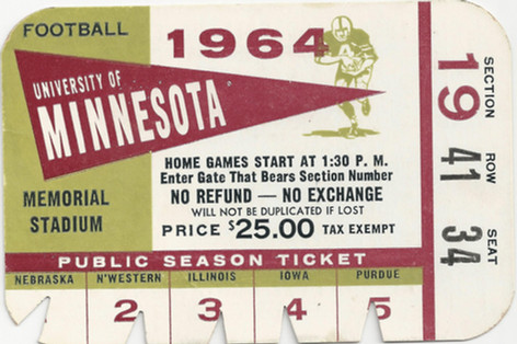1964 @ Minnesota Ticket