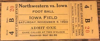 1920 Northwesten Ticket