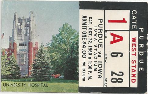 1960 Purdue Ticket