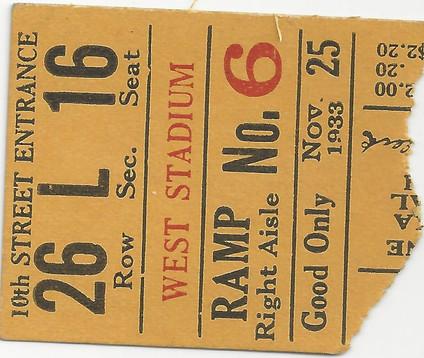 1933 @ Nebraska Ticket