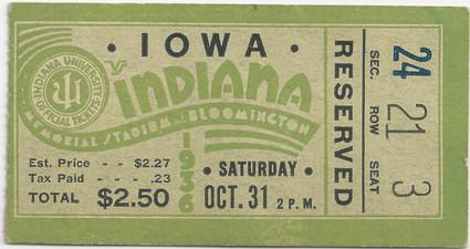1936 @ Indiana Ticket