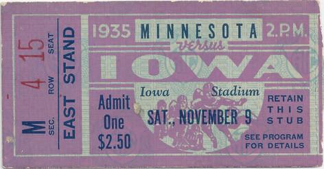 1935 Minnesota Ticket