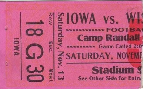 1926 @ Wisconsin Ticket