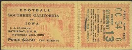 1925 _ USC Ticket