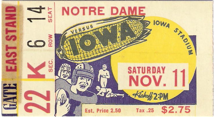 Notre Dame Ticket Front