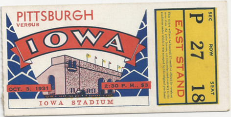 1931 Pittsburgh Ticket