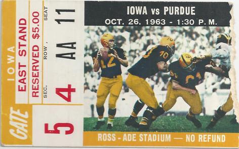 1963 @ Purdue Ticket