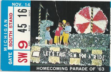 1964 Michigan Ticket