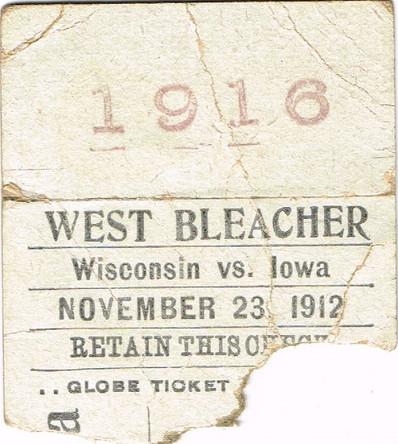 1912 Wisconsin Ticket