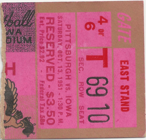 1951 Pittsburgh Ticket