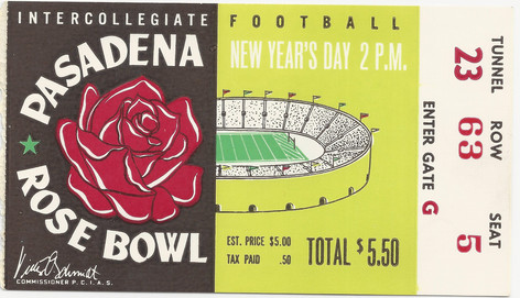 1956 Rose Bowl Ticket