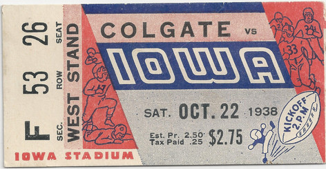 1938 Colgate Ticket