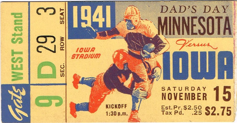 1941 Minnesota Ticket