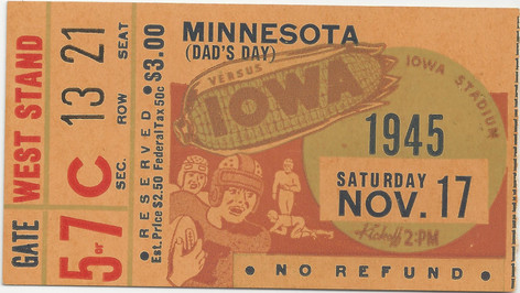 1945 Minnesota Ticket