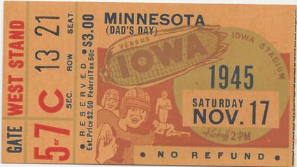 1945 Minnesota Ticket