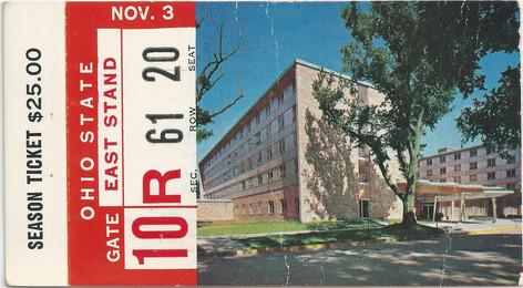 1962 Ohio St. Ticket