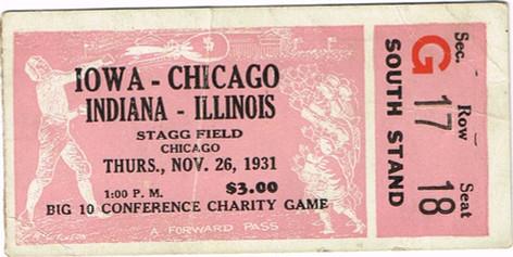 1930 @ Chicago Ticket