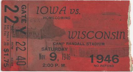 1946 @ Wisconsin Ticket