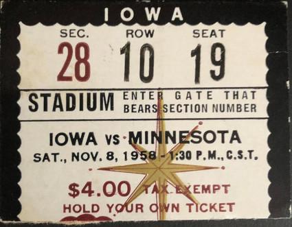 1958 @ Minnesota Ticket