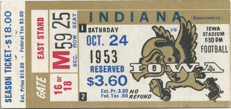1953 Indiana Ticket