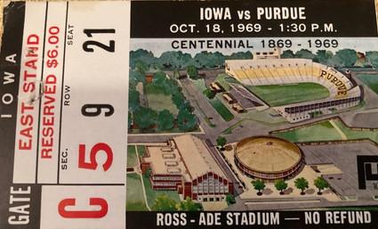 1969 @ Purdue Ticket