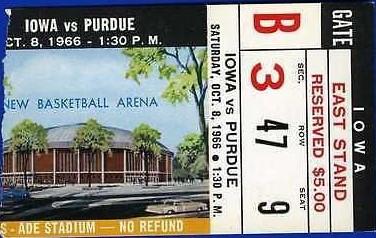 1966 @ Purdue Ticket