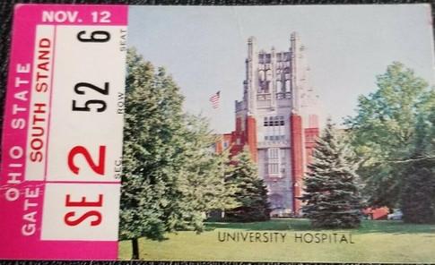 1960 Ohio State Ticket