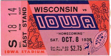 38 Wisconsin Ticket