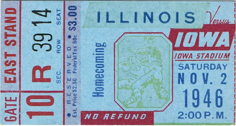 1946 Illinois Ticket