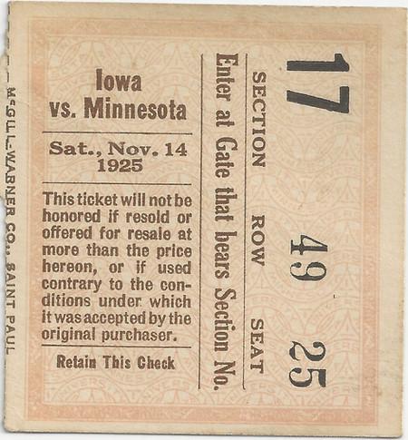 1925 @ Minnesota Ticket