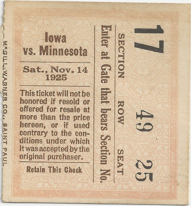 1925 @ Minnesota Ticket