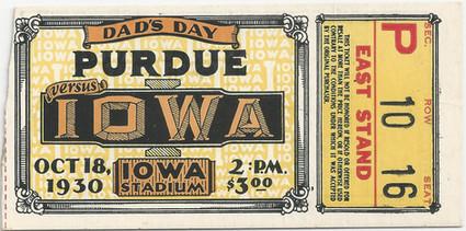 1930 Purdue Ticket