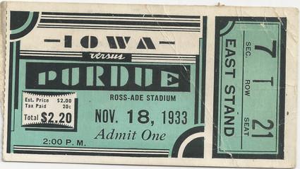 1933 @ Purdue Ticket