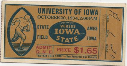 1934 @ Iowa State Ticket