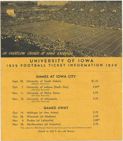 1939 Ticket Brochure
