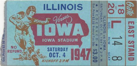 1947 Illinois Ticket