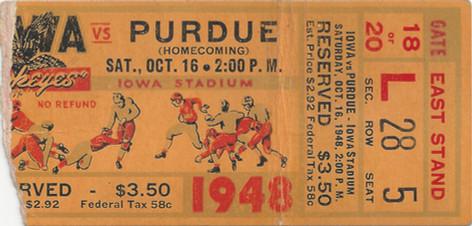 1948 Purdue Ticket