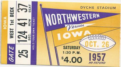 1957 @ Northwestern Ticket