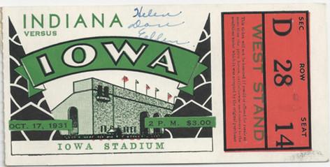 1931 Indiana Ticket